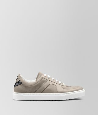SNEAKER IN CALF LEATHER AND SUEDE
