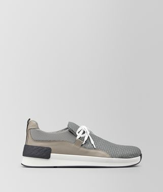 BV GRAND SLIP-ON SNEAKER IN FABRIC AND CALF LEATHER