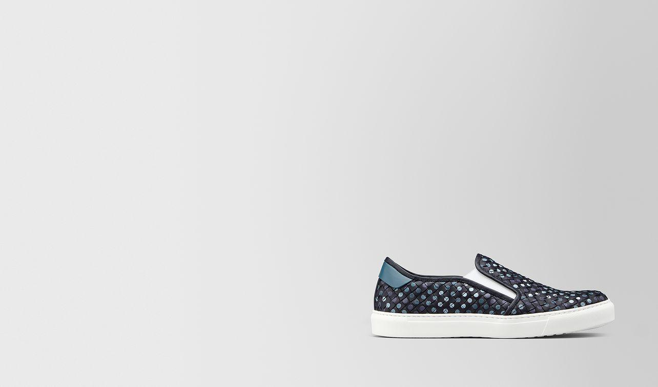 bv chequer sneaker in intrecciato nappa  landing