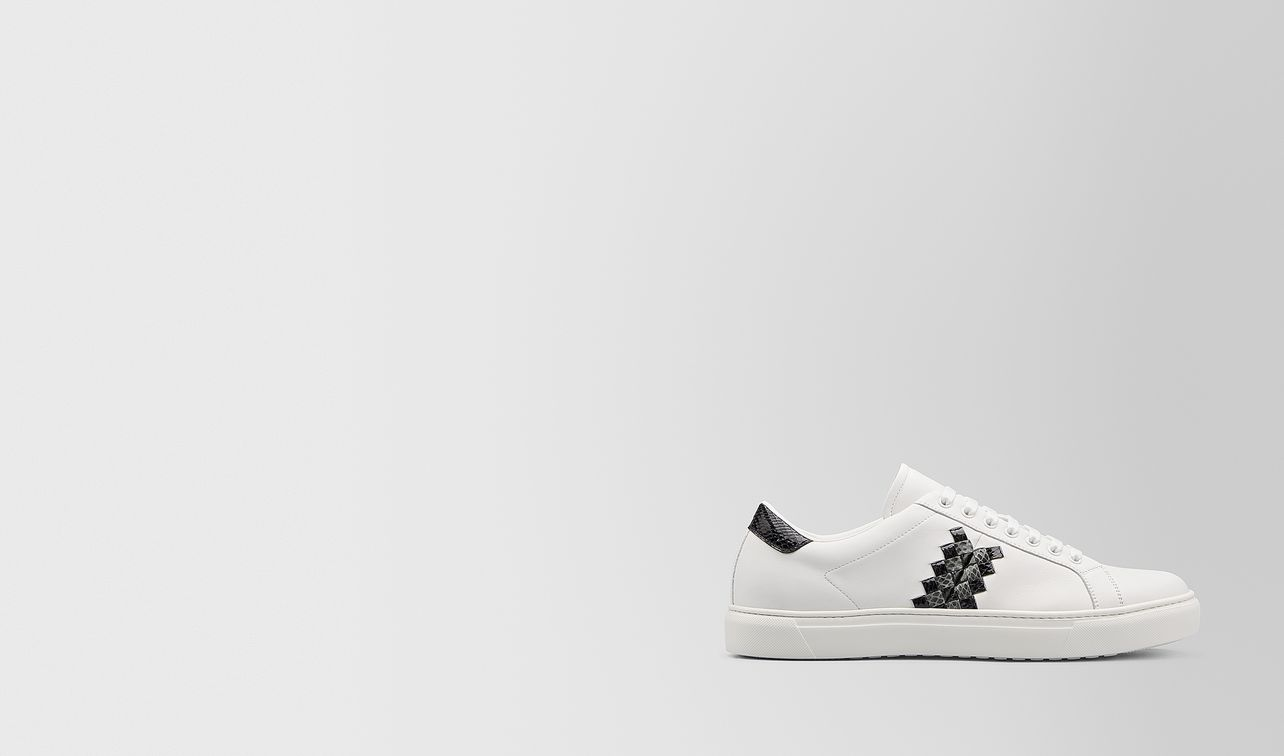 bv chequer sneaker in calf and ayers landing
