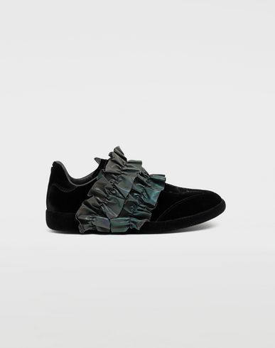 MAISON MARGIELA Sneakers [*** pickupInStoreShipping_info ***] Reflective trim velvet sneakers f