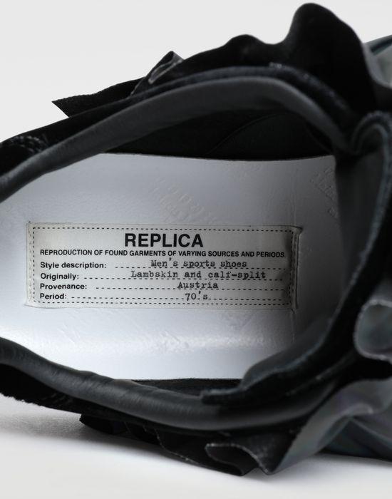 MAISON MARGIELA Reflective trim velvet sneakers Sneakers [*** pickupInStoreShipping_info ***] a