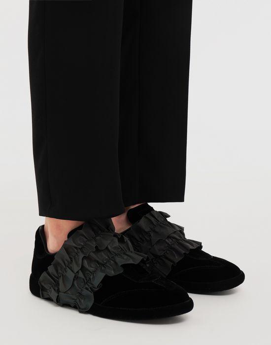 MAISON MARGIELA Reflective trim velvet sneakers Sneakers [*** pickupInStoreShipping_info ***] b