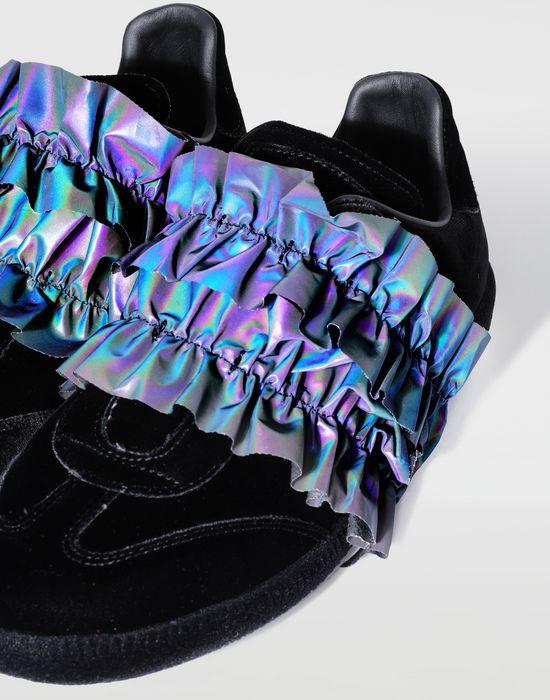 MAISON MARGIELA Reflective trim velvet sneakers Sneakers [*** pickupInStoreShipping_info ***] e
