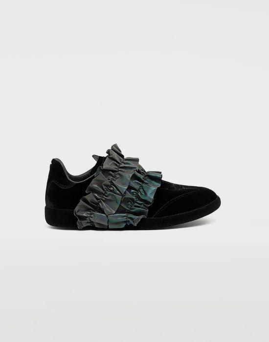 MAISON MARGIELA Reflective trim velvet sneakers Sneakers [*** pickupInStoreShipping_info ***] f