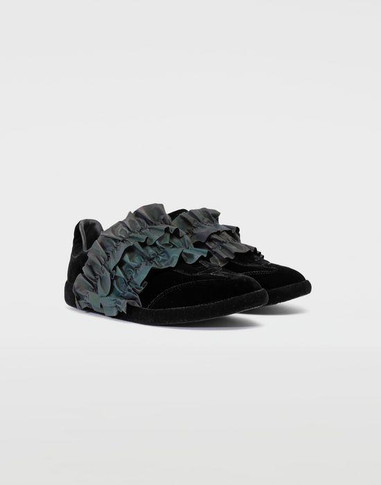 MAISON MARGIELA Reflective trim velvet sneakers Sneakers [*** pickupInStoreShipping_info ***] r