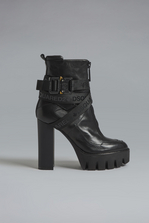 DSQUARED2 Acid Glam Punk Tape Ankle Boots Lace-Up Ankle Boot  Woman