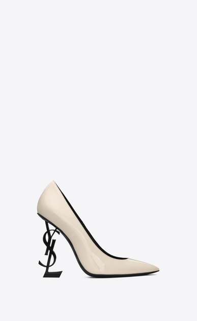 4b4a726dba8a SAINT LAURENT YSL heels Woman OPYUM Pumps with gold-toned heel in smooth  leather V4