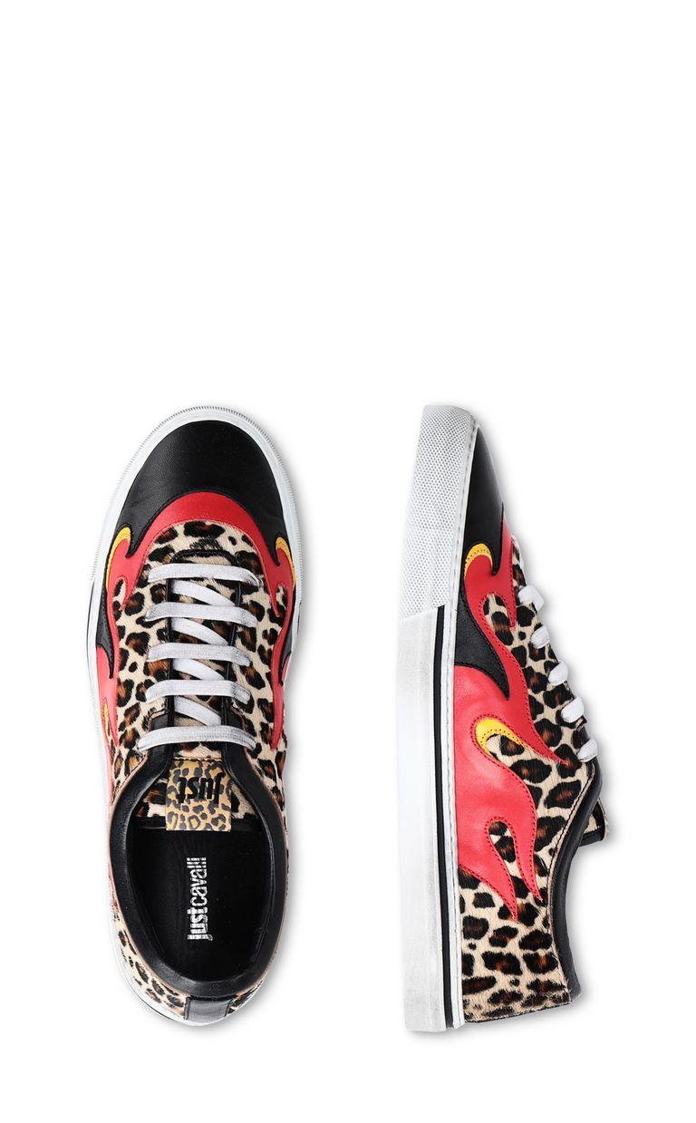 JUST CAVALLI Leopard-print pony-skin sneaker Sneakers [*** pickupInStoreShippingNotGuaranteed_info ***] d