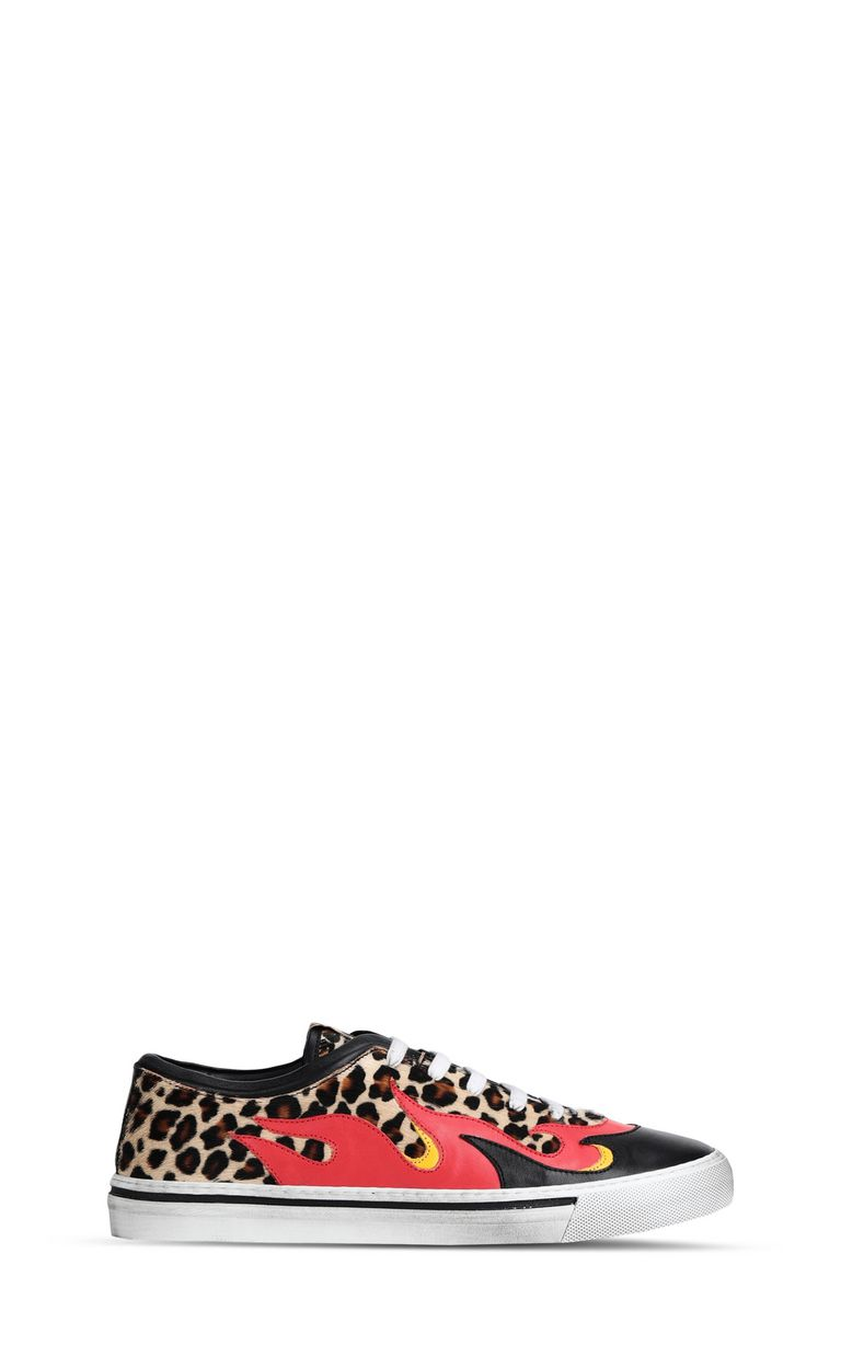 JUST CAVALLI Leopard-print pony-skin sneaker Sneakers [*** pickupInStoreShippingNotGuaranteed_info ***] f