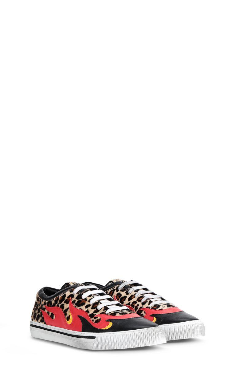 JUST CAVALLI Leopard-print pony-skin sneaker Sneakers [*** pickupInStoreShippingNotGuaranteed_info ***] r