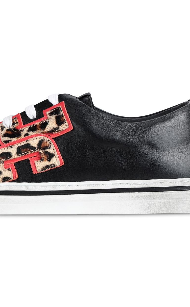 JUST CAVALLI Low-top sneaker with leopard logo Sneakers Man e