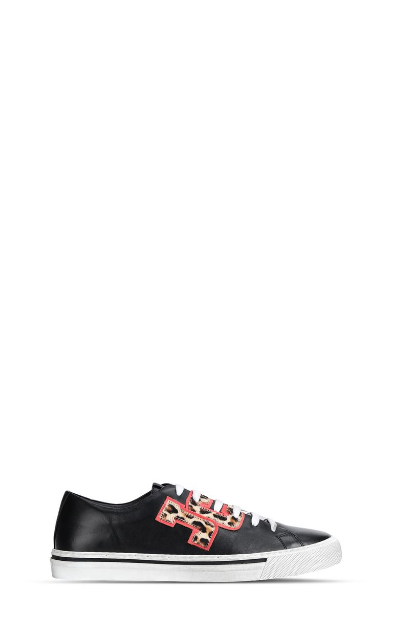 JUST CAVALLI Low-top sneaker with leopard logo Sneakers Man f