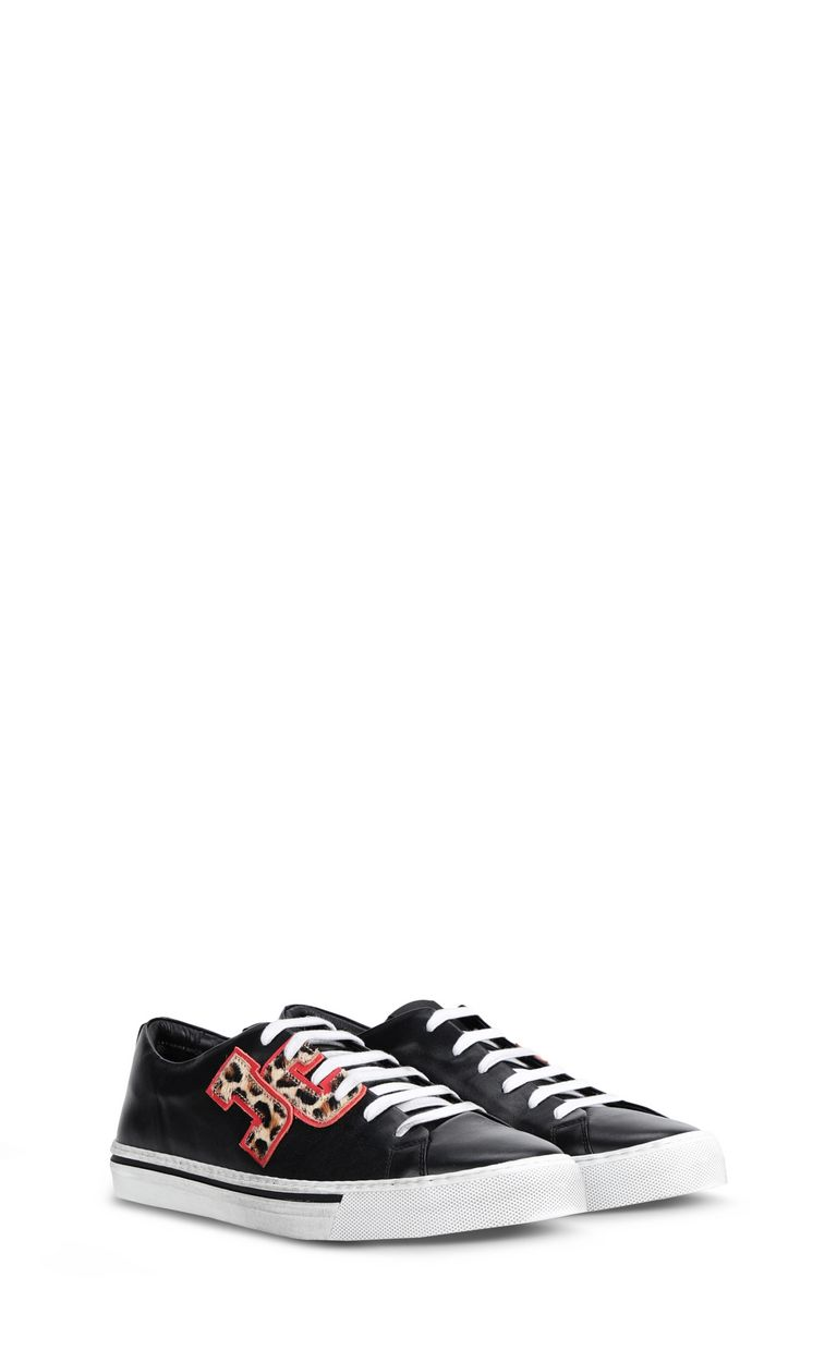 JUST CAVALLI Low-top sneaker with leopard logo Sneakers Man r