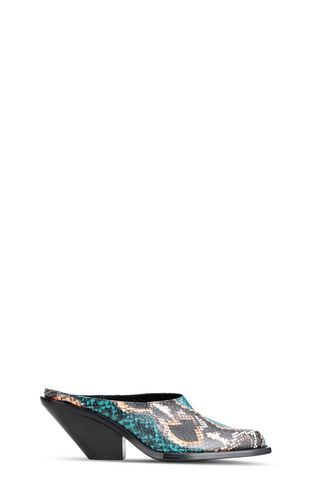 JUST CAVALLI Pump Woman Open-toe python-print court shoe f