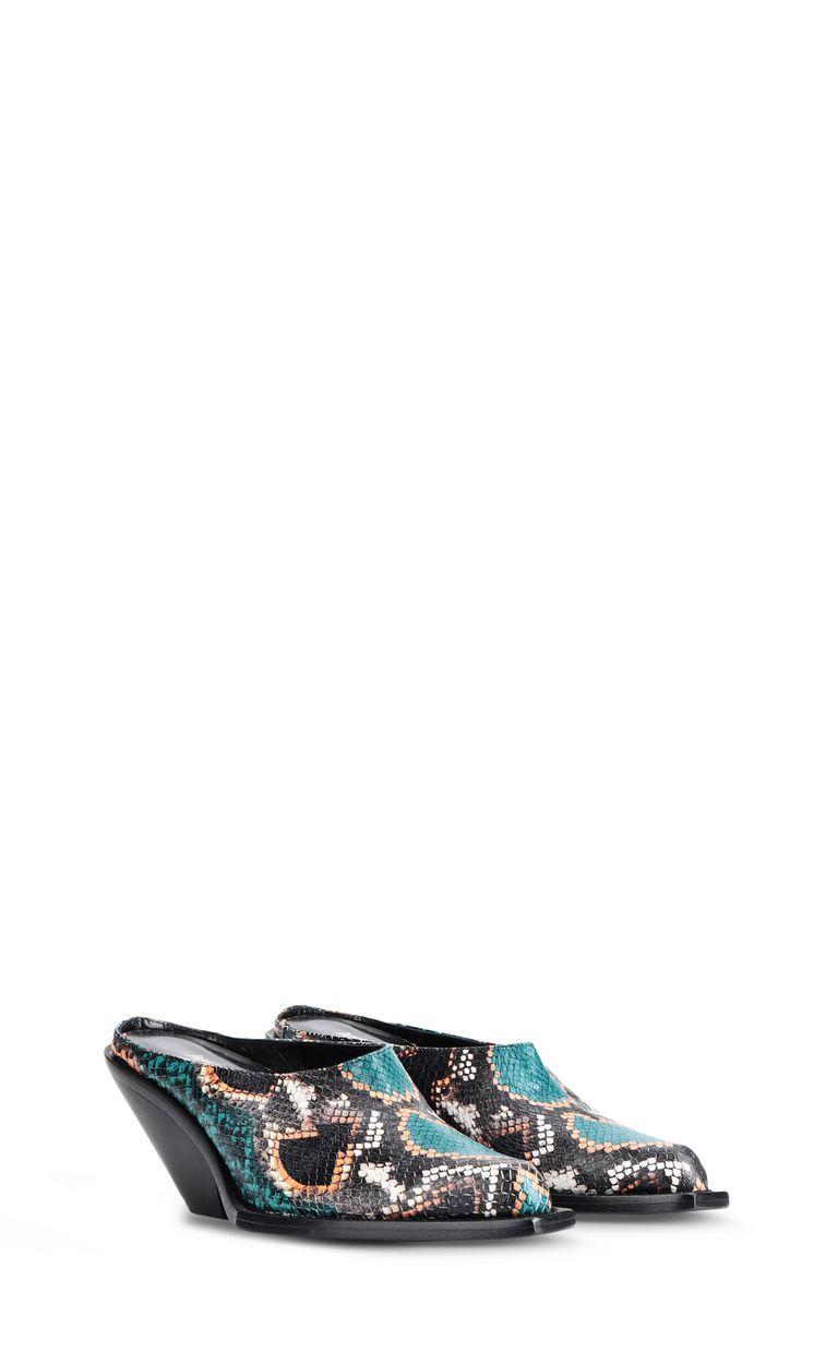 JUST CAVALLI Texas-style python-print mule Sandals Woman r