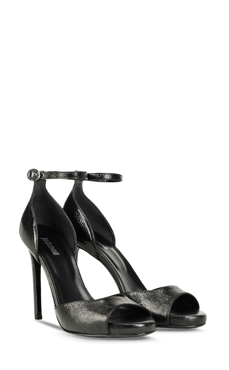 JUST CAVALLI Sandals in laminated leather High-heeled sandals [*** pickupInStoreShipping_info ***] r