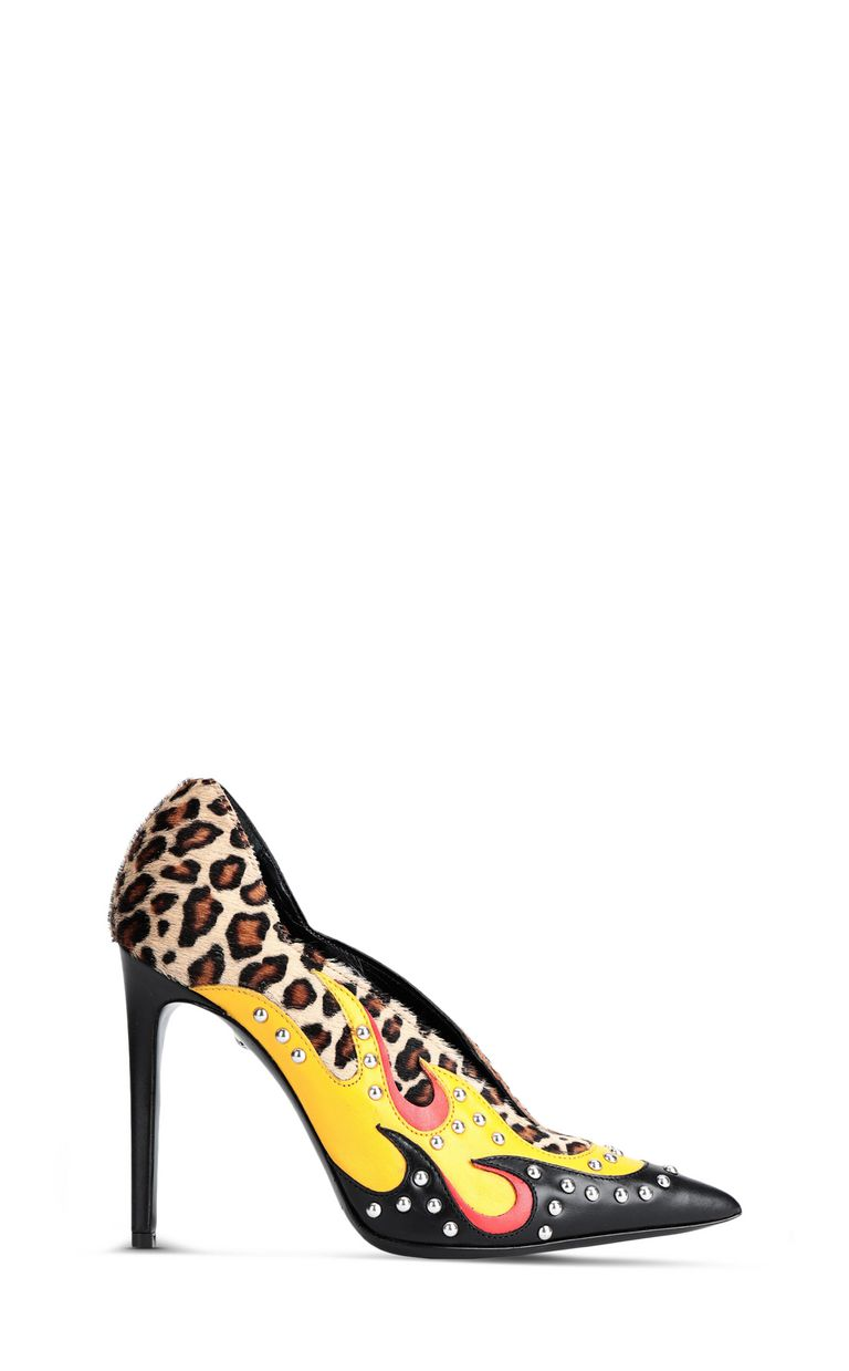 JUST CAVALLI Flame-detail court shoe Pump Woman f