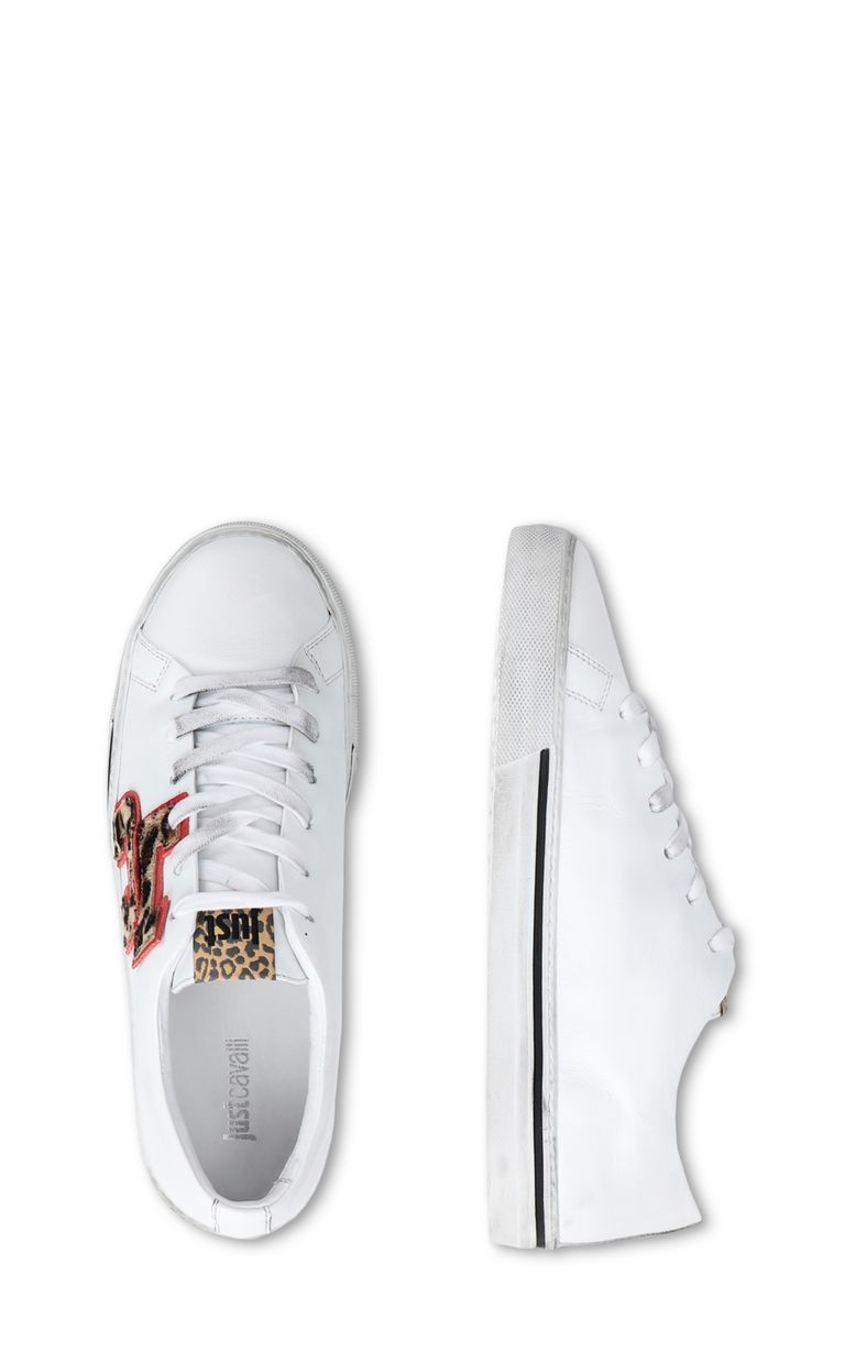 JUST CAVALLI Low-top sneaker with leopard logo Sneakers [*** pickupInStoreShipping_info ***] d