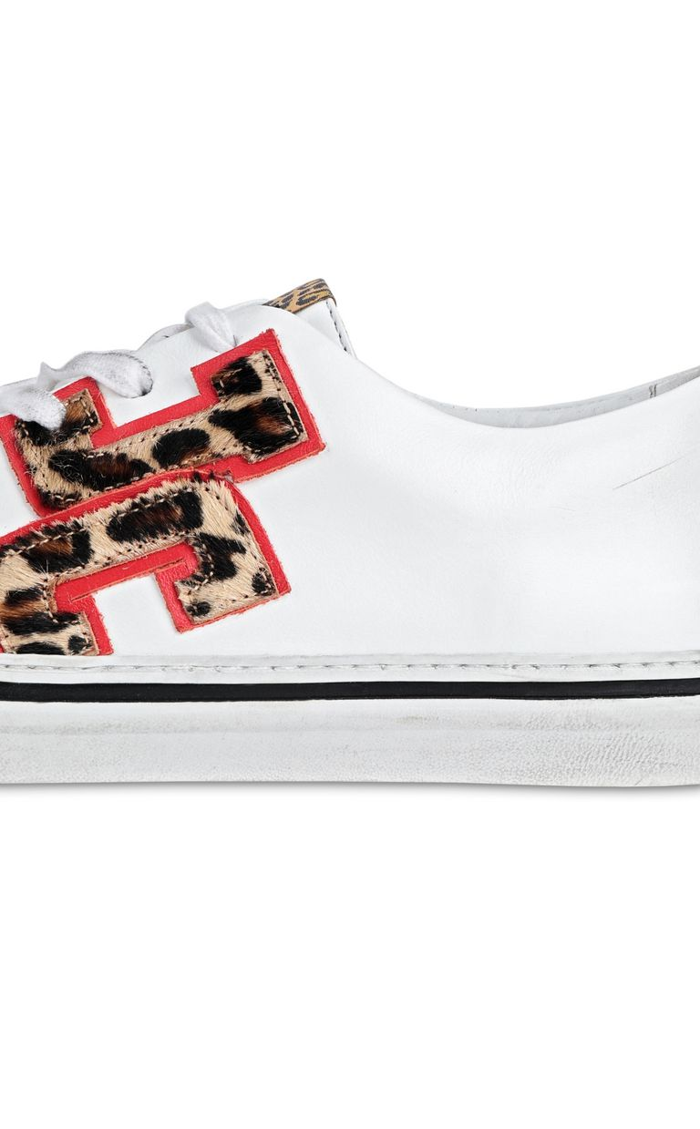 JUST CAVALLI Low-top sneaker with leopard logo Sneakers Woman e