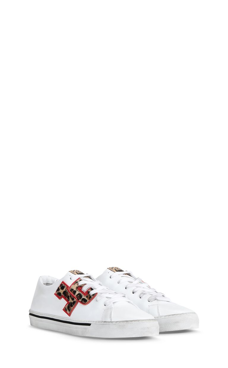 JUST CAVALLI Low-top sneaker with leopard logo Sneakers Woman r