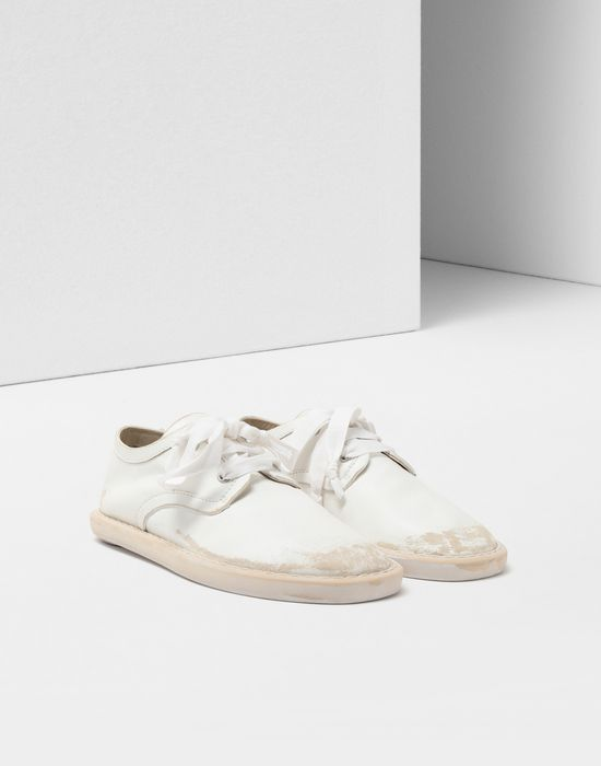 MM6 MAISON MARGIELA Fuss-bett leather sneakers Laced shoes [*** pickupInStoreShipping_info ***] r