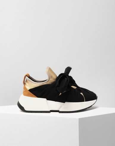 MM6 MAISON MARGIELA Ribbon tie leather sneakers Sneakers [*** pickupInStoreShipping_info ***] f