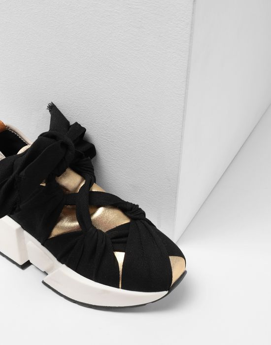 MM6 MAISON MARGIELA Ribbon tie leather sneakers Sneakers [*** pickupInStoreShipping_info ***] a