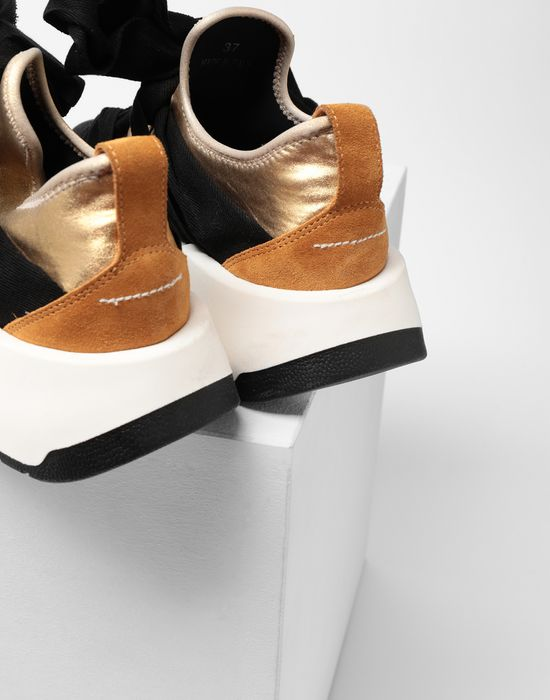 MM6 MAISON MARGIELA Ribbon tie leather sneakers Sneakers [*** pickupInStoreShipping_info ***] e