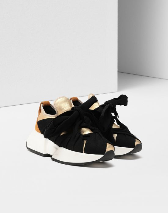 MM6 MAISON MARGIELA Ribbon tie leather sneakers Sneakers [*** pickupInStoreShipping_info ***] r