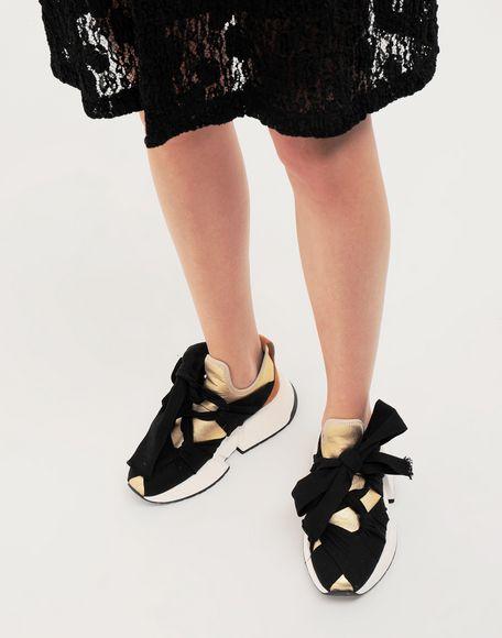 MM6 MAISON MARGIELA Ribbon tie leather sneakers Sneakers Woman b