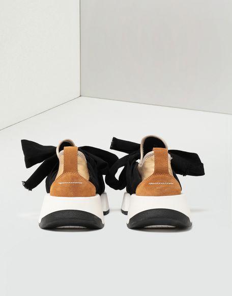 MM6 MAISON MARGIELA Ribbon tie leather sneakers Sneakers Woman d