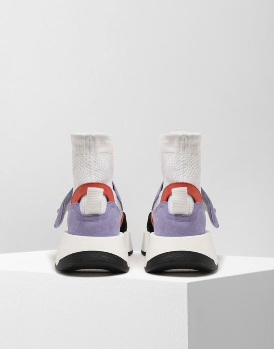 MM6 MAISON MARGIELA Sock runner leather sneakers Sneakers [*** pickupInStoreShipping_info ***] d