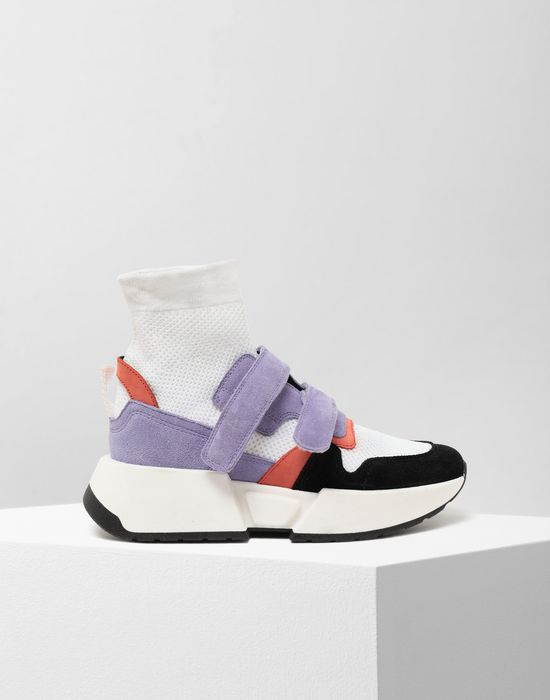 MM6 MAISON MARGIELA Sock runner leather sneakers Sneakers [*** pickupInStoreShipping_info ***] f