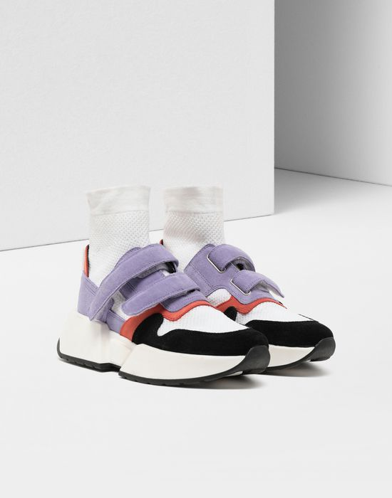 MM6 MAISON MARGIELA Sock runner leather sneakers Sneakers [*** pickupInStoreShipping_info ***] r