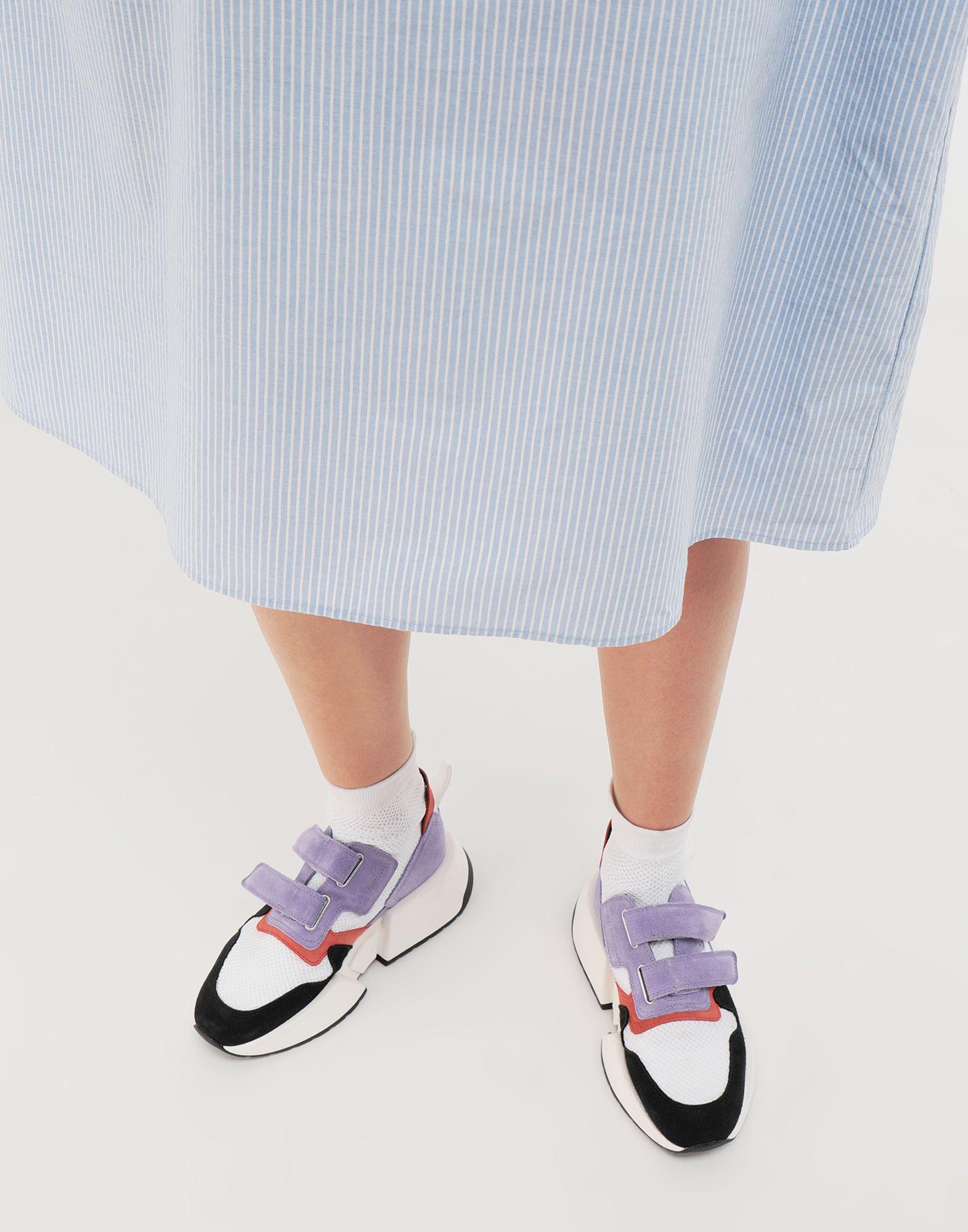 MM6 MAISON MARGIELA Sock runner leather sneakers Sneakers Woman b