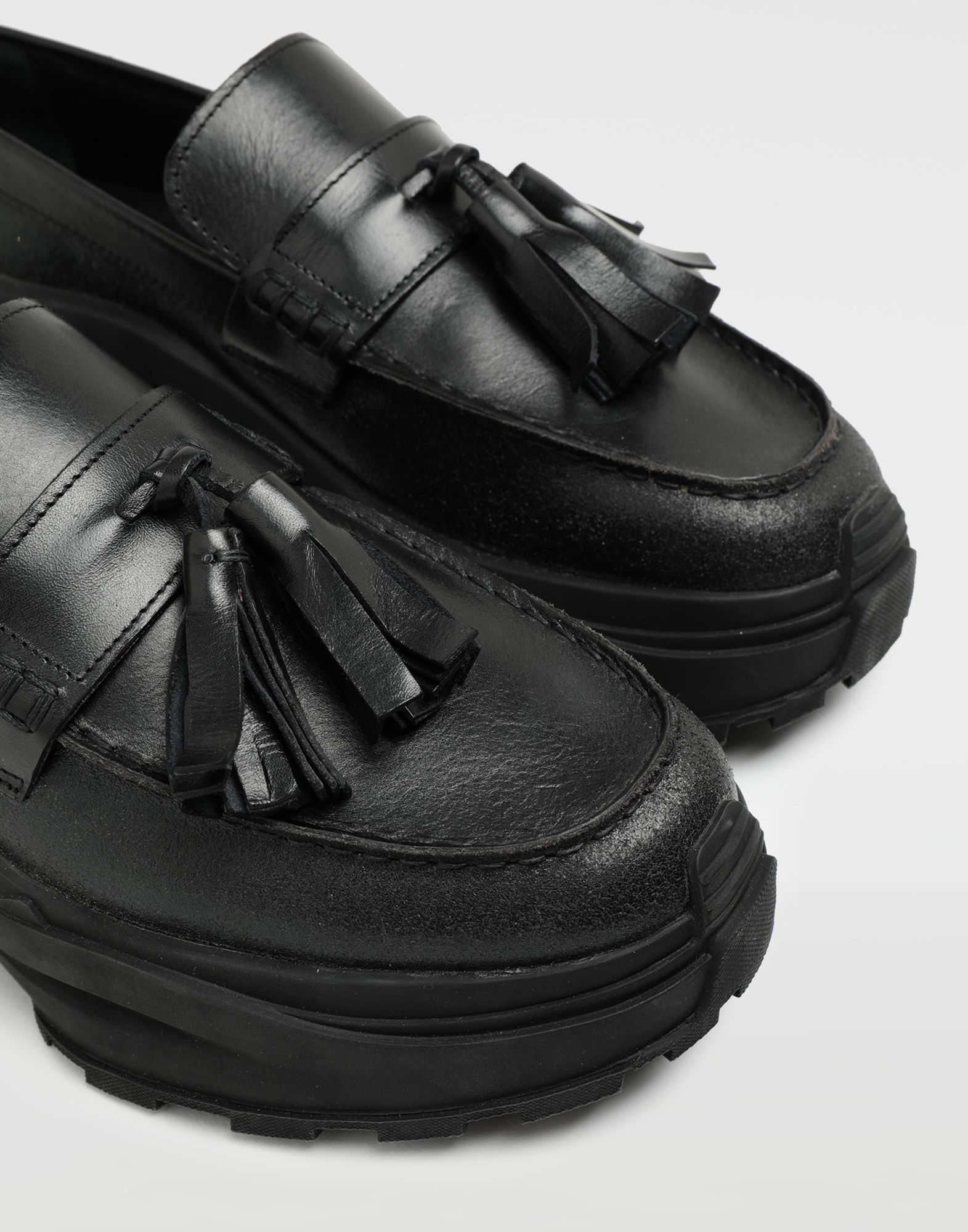 MAISON MARGIELA Sneakers-mocassins à gland Spliced Mocassins Homme a