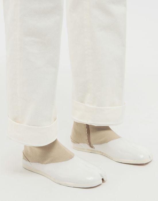 MAISON MARGIELA Tabi laminated flat ankle boots Tabi boots [*** pickupInStoreShippingNotGuaranteed_info ***] b