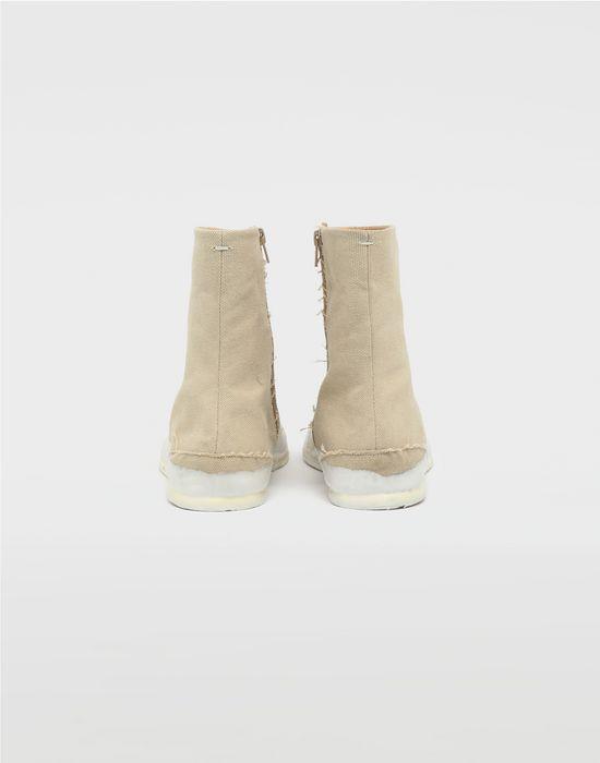 MAISON MARGIELA Tabi laminated flat ankle boots Tabi boots [*** pickupInStoreShippingNotGuaranteed_info ***] d