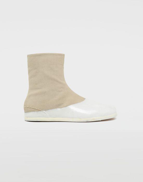 MAISON MARGIELA Tabi laminated flat ankle boots Tabi boots [*** pickupInStoreShippingNotGuaranteed_info ***] f