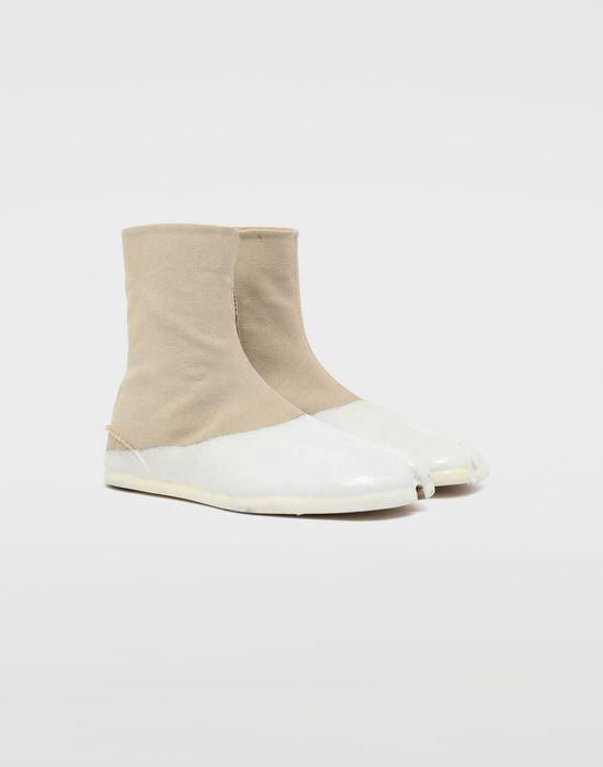 MAISON MARGIELA Tabi laminated flat ankle boots Tabi boots [*** pickupInStoreShippingNotGuaranteed_info ***] r