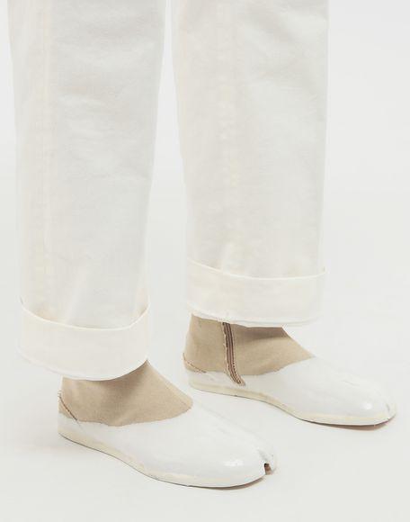 MAISON MARGIELA Tabi laminated flat ankle boots Tabi boots & Ankle boots Man b
