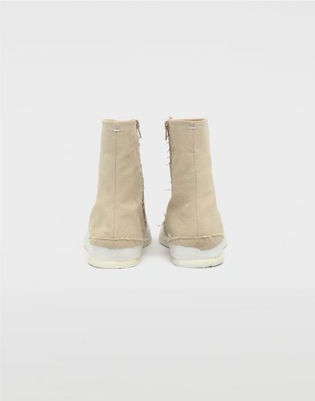 MAISON MARGIELA Tabi laminated flat ankle boots Tabi boots & Ankle boots Man d