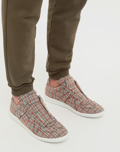 SHOES Replica low top check sneakers