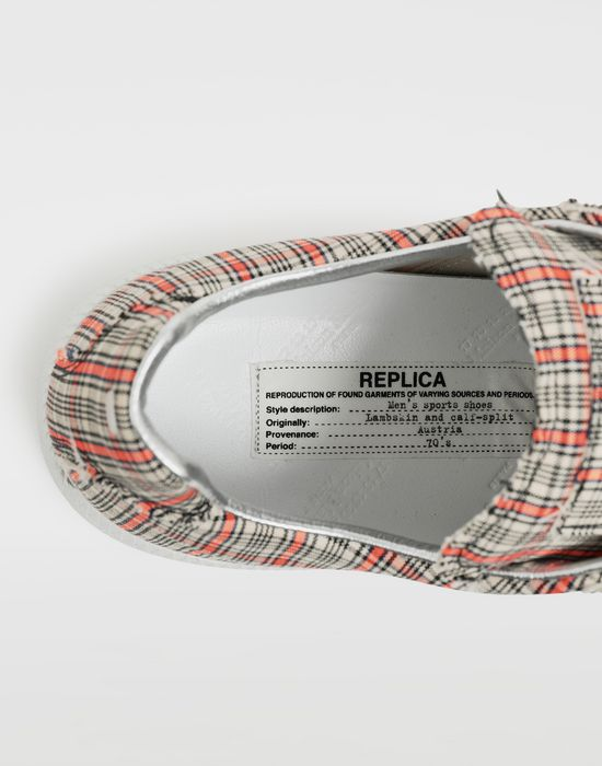 MAISON MARGIELA Replica ロートップ チェック スニーカー スニーカー [*** pickupInStoreShippingNotGuaranteed_info ***] a