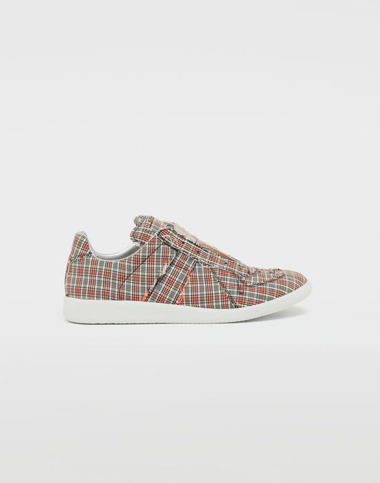 MAISON MARGIELA Replica low top check sneakers Sneakers [*** pickupInStoreShippingNotGuaranteed_info ***] f