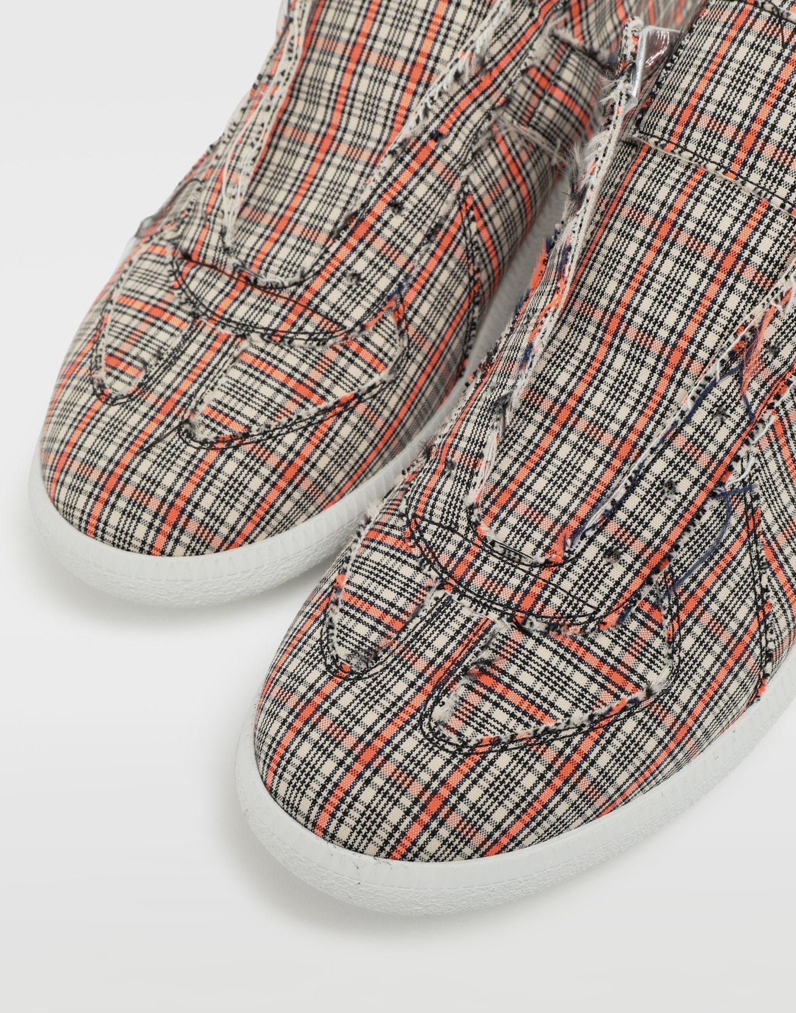 MAISON MARGIELA Replica low top check sneakers Sneakers Man e