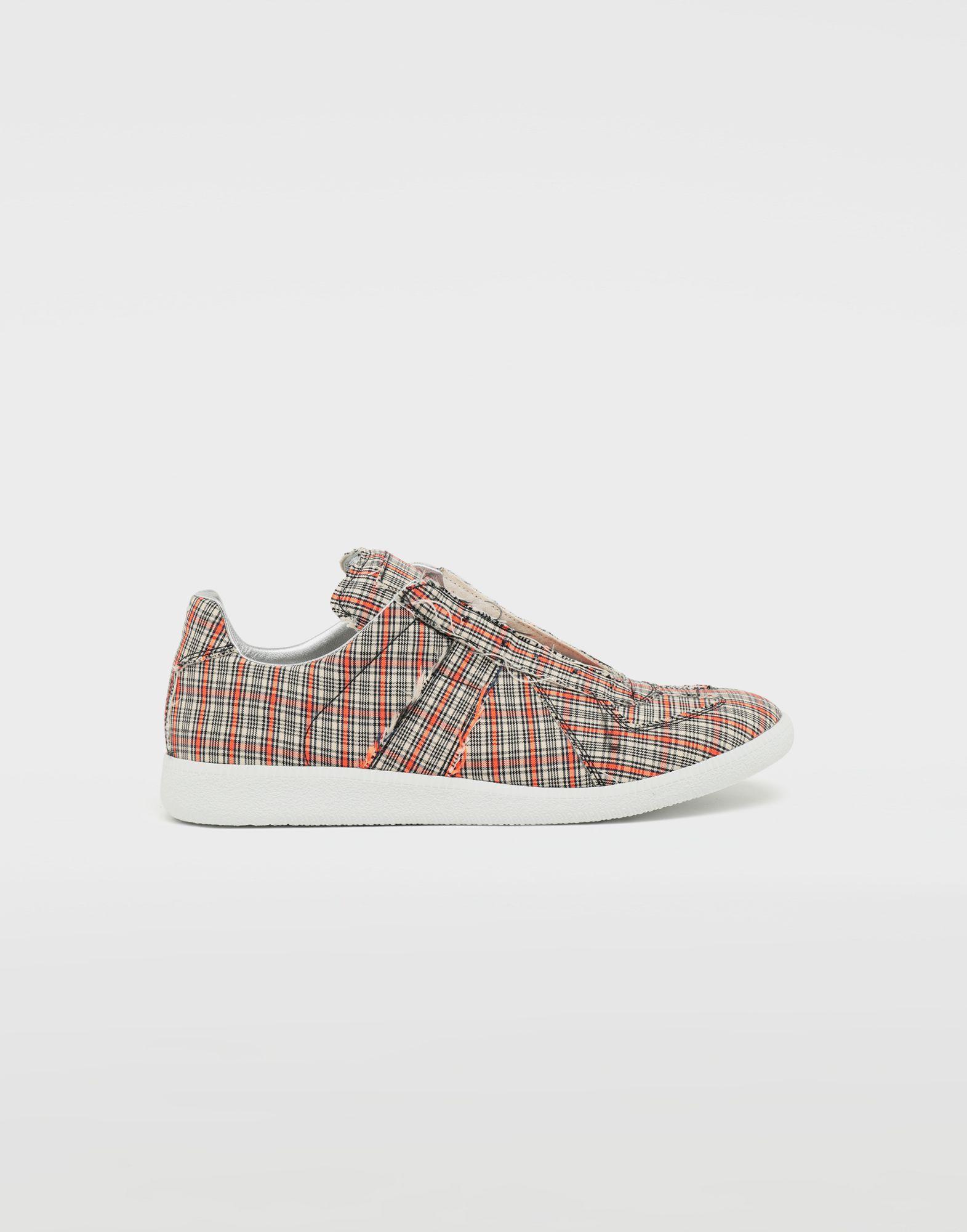 MAISON MARGIELA Replica low top check sneakers Sneakers Man f