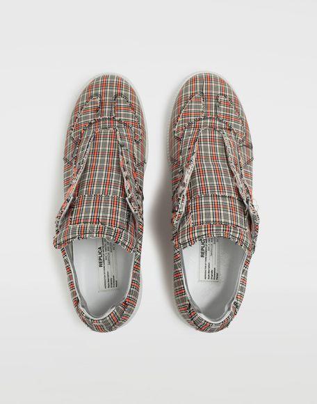 MAISON MARGIELA Replica low top check sneakers Sneakers Man d
