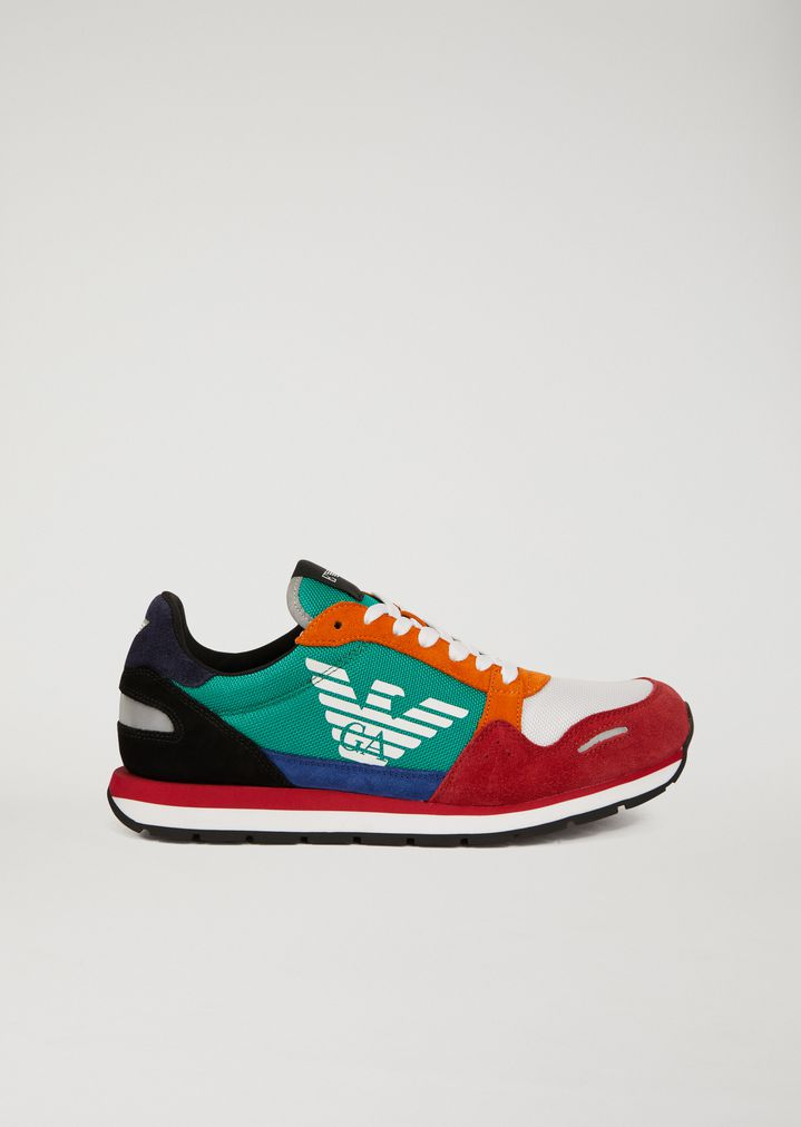 Sneakers en cuir suédé avec logo sur le côté   Homme   Emporio Armani 97a4f362a50